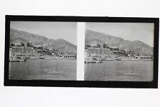 Monte-Carlo Monaco Photo N6 stereo Plaque de verre Vintage 1927