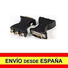 Adaptador DVI-A (12+5) Macho a 3RCA Hembra Negro a1689