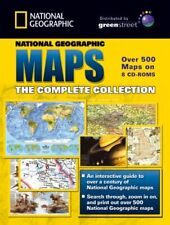 Complete NATIONAL GEOGRAPHIC MAPS Collection 8CD'S NEW