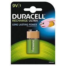 1 x DURACELL 9V PP3 Block 170 mAh batterie ricaricabili HR22 6LR61 HR9V DC1604