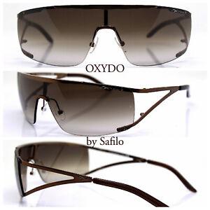 Oxydo By Safilo Sunglasses Men Mask Wrap Bronze Made IN Italy