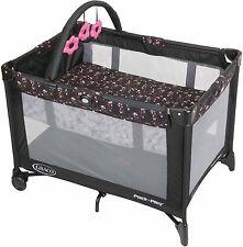 Graco Portable Folding Baby Playard Bassinet Playpen Cradle Crib kids toddler