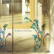 Window Fridge Decal Mural Calla Lily Flower Wall Glass Sticker Home DIY Decor