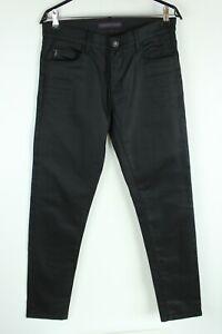 Trussardi Jeans Nuovo con Etichetta Nero Rigido Medio Rise Slim Uomo Taglia W32