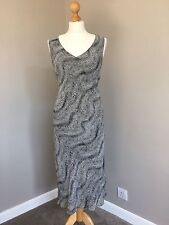 Marks And Spencer Black And White Long Dress Size 14