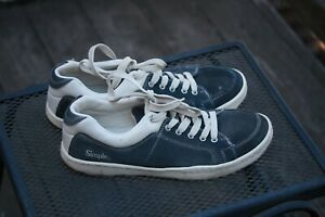 Simple brand model Old School OS  men's size 13 shoes blue suede