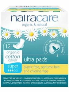 Natracare Ultra Super Pads Organic Cotton 12 Pads Plastic Free Multi Buy Savings