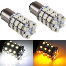 2x1157 60SMD Car LED Driving Tail Turn Signal Bulb Light White Yellow Switchback