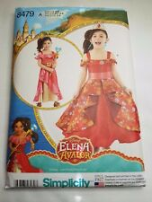 SIMPLICITY 8479 ELENA OF AVALOR, CHILD COSTUME (DISNEY) SIZE 3-8 UNCUT