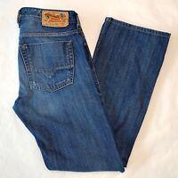 Mens Diesel Jeans Zatiny 0882W Bootcut Blue Denim W29 L32 Tag Distressed