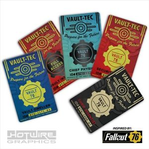 Plastic ID Card (Video Game Prop)- Fallout 76 Vault ID Set of 5* Cosplay