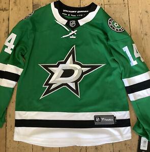 Brand New With Tags Fanatics NHL Dallas Stars Jersey Green Small Benn 14