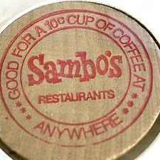 Lot of 10 Sambo/'s Resturant Coffee Tokens Wooden Nickels Black Americana