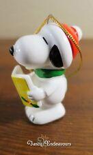 Peanuts Snoopy Christmas Ornament Carolling