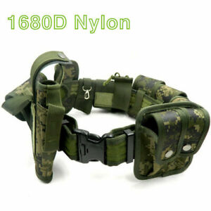10pcs Set Tactical Enforcement Duty Belt Police Camouflage Security Guard Modula