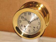 "Chelsea Vintage Ships Bell Clock~4 1/2"" Dial~1976~Restored"