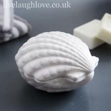 More details for white ceramic oyster shell trinket pot