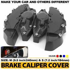 4Pcs Black Brake Caliper Covers Style Disc Universal Car Front Rear Kit M+S CY01