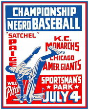KC MONARCHS CHICAGO GIANTS 8X10 PHOTO BASEBALL POSTER PICTURE NEGRO LEAGUE PAIGE
