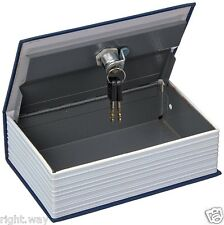 Home Security Dictionary Book Safe Storage Key Lock Box for Cash Jewelry Large