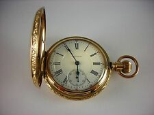 Antique rare 18s Waltham Vanguard RailRoad pocket watch 1894. Lovely Hunter case