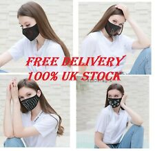 Face Mask Protective Cover Mouth Masks Washable Reusable Black fancy JEWELL mask
