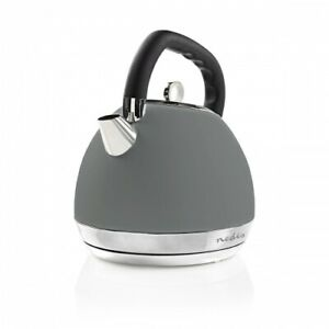 Design Retro Vintage Wasserkocher 1,8L 2200W Grau