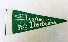 Vintage 1950s Los Angeles Dodgers Baseball Mini Felt Pennant