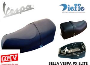 SELLA NERA ELITE VESPA PX 125 150 200 CON SERRATURA