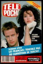▬►Télé Poche 1104 (1987) ADJANI_LAMBERT_JULIE PIETRI_DANY CARREL_MICKEY ROURKE