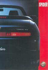 ALFA ROMEO SPIDER listino prezzi 13.5.95 price list 1995 AUTO AUTOMOBILI ITALIA EUROPA