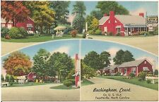 Buckingham Court in Fayetteville NC Roadside Postcard