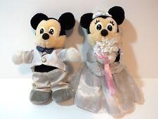 Vintage Mickey Minnie Mouse Wedding Plush Doll Bride Groom Japan Stuffed Animal