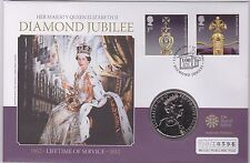 2012 BASE METAL £5 COIN & STAMP COMMEMORATIVE COVER DIAMOND JUBILEE