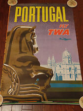 TWA POSTER TO PORTUGAL