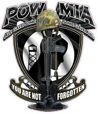 "POW MIA YOU ARE NOT FORGOTTEN Large Decal 10"" x 9"" in size"