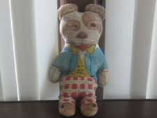 Rare Antique Bonzo Dog 2 Sided Rag Doll Nice!1920'S