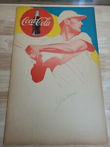 """Vintage Ted Williams Coca-Cola Display Poster Late 1940s (21.5""""x13.5"""")"""