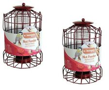 2x BIRD NUT FEEDER SQUIRREL GUARD WIRE CAGE SQUIRREL PROOF PROTECTS FEED FEEDING