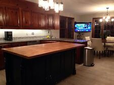 **6 Ft Kitchen Island, Butcher Block Top And Custom Color, Made In