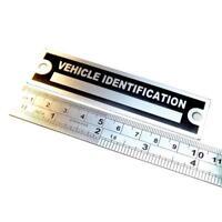 Anodized Aluminium custom manufacturer Vehicle identification plate boat buggy