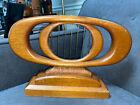 Mid+Century+Modern+Wood+and+Metal+Sculpture+Modernist+Signed+15%E2%80%9Dx10%E2%80%9D