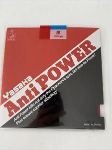 Yasaka Anti Power Red 2.0mm Table Tennis Rubber