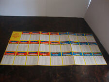 1975 Topps Football---Team Checklist Sheet---Complete Set Uncut---26 Teams--XHTF