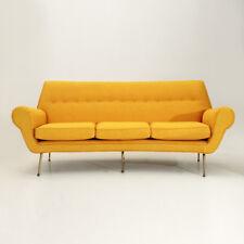divano tre posti con piedi in ottone anni 50, mid century sofa, gigi radice styl