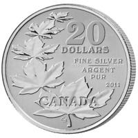 Canada 2011 $20 Silver Commemorative Maple Leaf Coin - #1 of $20 for $20 series