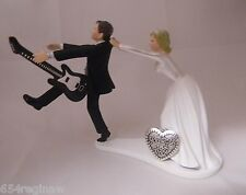 Wedding Reception Party Cake Topper Band Music Black Guitar Rock & Roll