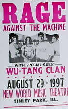 "Rage Against the Machine Concert Poster - 1997 w/ Wu-Tang Clan - 14""x22"""