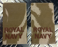 Genuine British Army Desert ROYAL NAVY ABLE RATE Rank Slides / Epaulettes - NEW