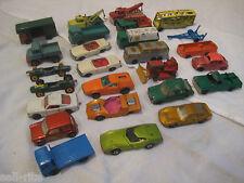 Matchbox Cars Lesney Superfast Series Die Cast Lot of 25 Cars Trucks 60's 70's